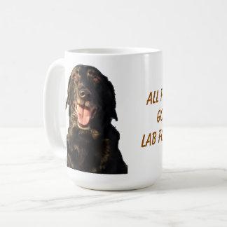 All food must go to the Lab 15oz. Coffee mug. Coffee Mug