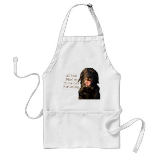 All food must go to the Lab standard apron