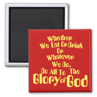 All for the Glory of God Magnet
