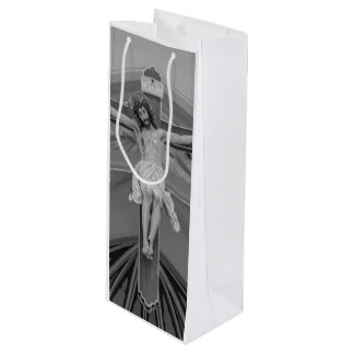 All For You Grayscale Wine Gift Bag