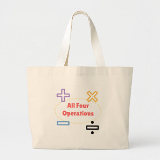 All Four Operations Large Tote Bag