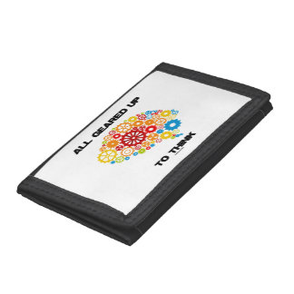 All Geared Up To Think Brain Gears Psyche Engineer Tri-fold Wallet
