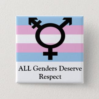 All Genders Deserve Respect 15 Cm Square Badge