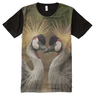All God's Creatures Grey Crowned Cranes Print All-Over Print T-Shirt