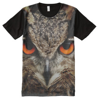 All God's Creatures Owl Print All-Over Print T-Shirt