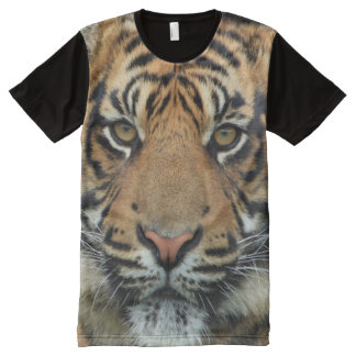All God's Creatures Tiger Print All-Over Print T-Shirt