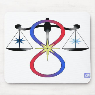 All Gods Universal Power Color - Religious Symbol Mouse Pads