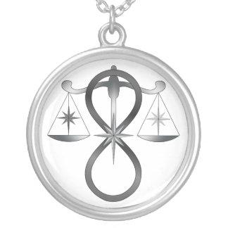 All Gods Universal Power Monochrome Symbol Personalized Necklace