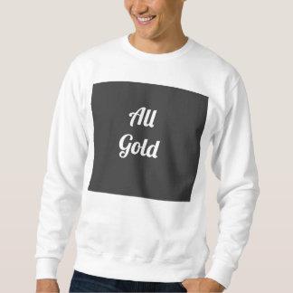 """All Gold"" Urban Gray Crewneck Sweatshirt"