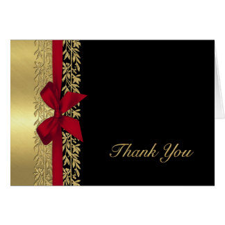 All Gold Vine Border Thank You Note Card