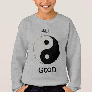 All Good/God (front), paw print emoji-art (back) Sweatshirt