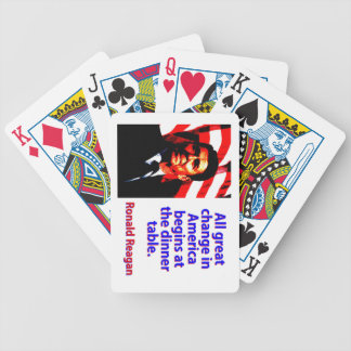 All Great Change In America - Ronald Reagan Bicycle Playing Cards