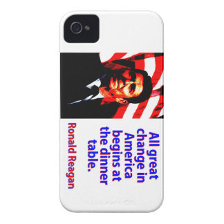 All Great Change In America - Ronald Reagan Case-Mate iPhone 4 Case