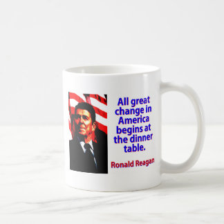 All Great Change In America - Ronald Reagan Coffee Mug