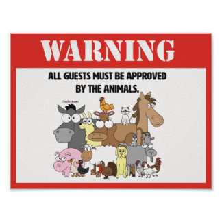 All Guests Must Be Approved Poster