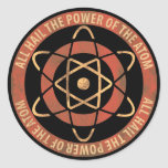 All Hail the Power of the Atom Retro Logo Round Sticker