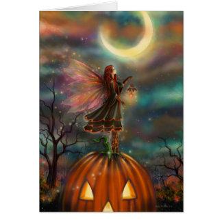 All Hallows' Eve Halloween Fairy Fantasy Art Card