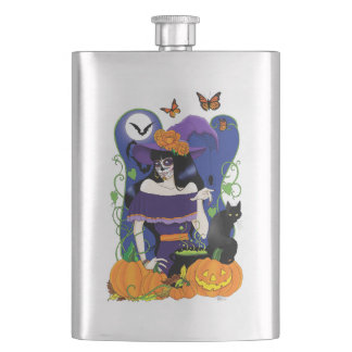 All Hallow's Eve Hip Flask