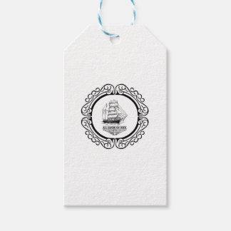 all hands on deck gift tags