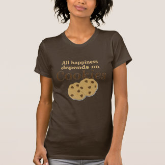 All happiness depends on cookies shirt