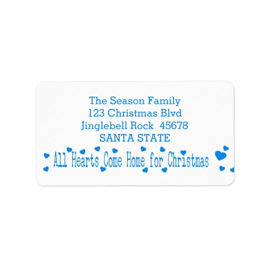 All Hearts Come Home for Christmas Address Label