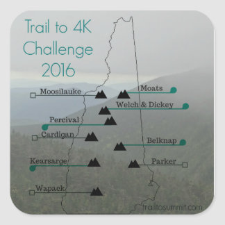 All Hikes- Trail to 4k Challenge Sticker
