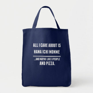All I Care About Is Hana Ichi Monme Sports Grocery Tote Bag