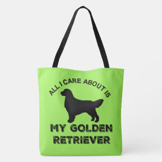 All I Care About Is My Golden Retriever Silhouette Tote Bag