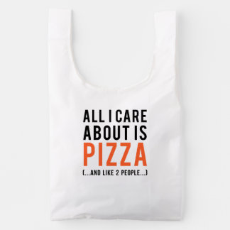 All i care about is pizza (and like 2 people) baggu reusable bag