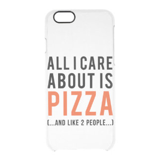 All i care about is pizza (and like 2 people) clear iPhone 6/6S case