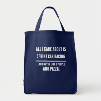 All I Care About Is Sprint Car Racing Sports Tote Bag