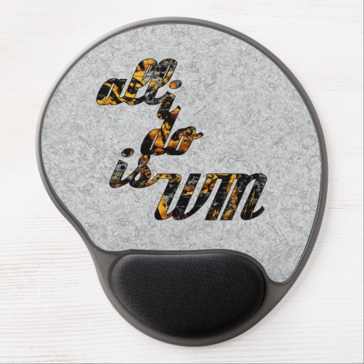 All I Do is Win in Gold Gel Mouse Mat