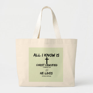 All I Know Large Tote Bag