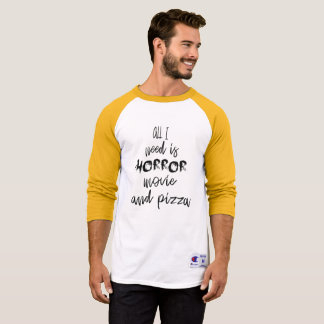 All I Need Is Horror Movie and Pizza Halloween Tee