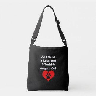 All I Need is Love and A Turkish Angora Cat Crossbody Bag