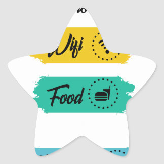 All I Need Is Wifi Food & My Bed Funny Star Sticker