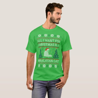 All I Want Christmas Himalayan Cat Ugly Sweater
