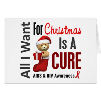 All I Want For Christmas AIDS Card