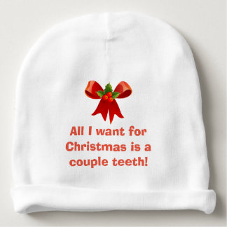 All I want for Christmas Baby Beanie