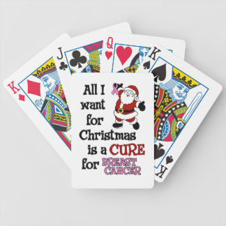 All I Want For Christmas...Breast Cancer Bicycle Playing Cards