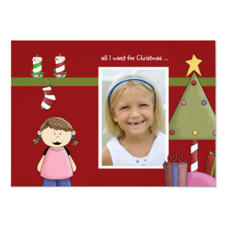 All I Want For Christmas (g) Photo Holiday Card