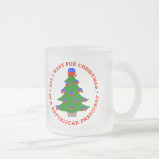 All I Want For Christmas Is A Republican President Frosted Glass Coffee Mug
