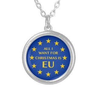 All I want for Christmas is EU Silver Plated Necklace