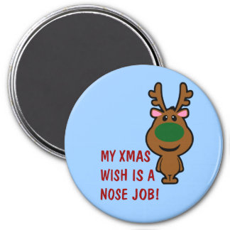 All I Want for Christmas is Plastic Surgery 7.5 Cm Round Magnet