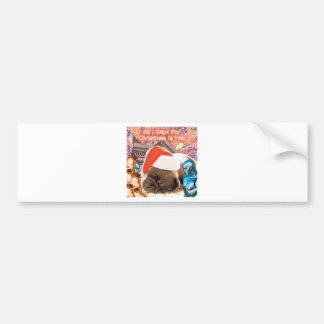 All I Want For Christmas Is You Bumper Sticker