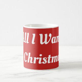 All I Want For Christmas Mug