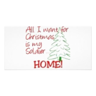 All I want for Christmas... Photo Card Template