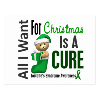 All I Want For Christmas Tourette s Syndrome Post Card
