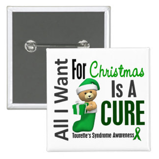 All I Want For Christmas Tourette's Syndrome 15 Cm Square Badge
