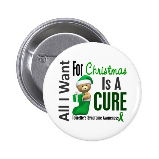 All I Want For Christmas Tourette's Syndrome Buttons